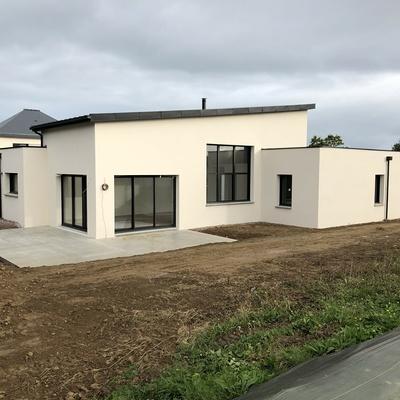 Construction d''une Habitation contemporaine à Plurien 22240 Bretagne