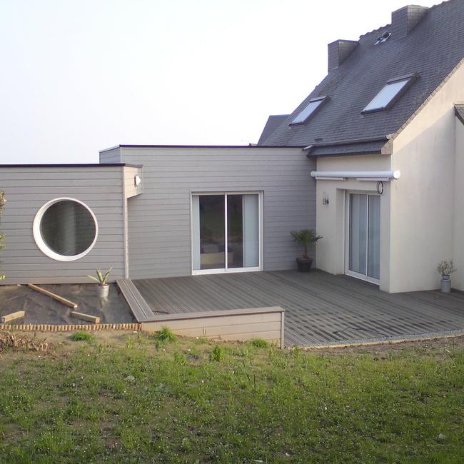 Réalisation d''une Extension bois à Langueux secteur St-Brieuc
