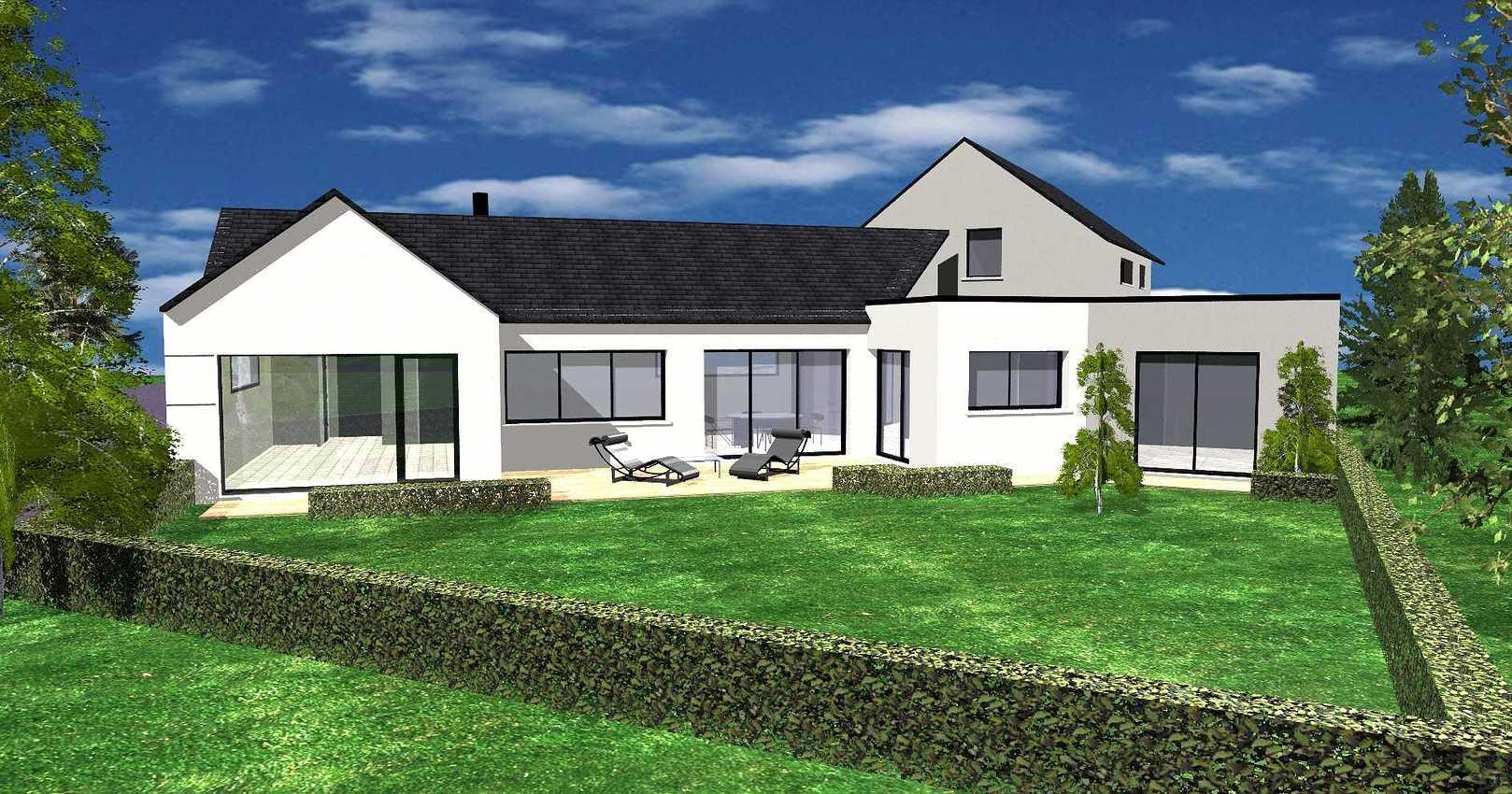 Projet maison contemporaine avec piscine - Erquy es2