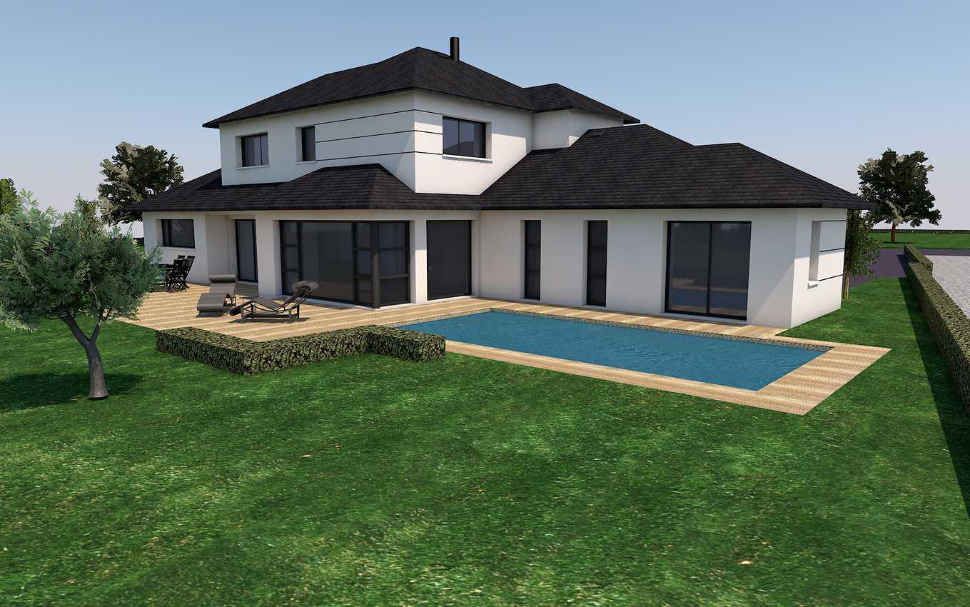 Projet de construction maison toit 4 pans- St-Aaron 0