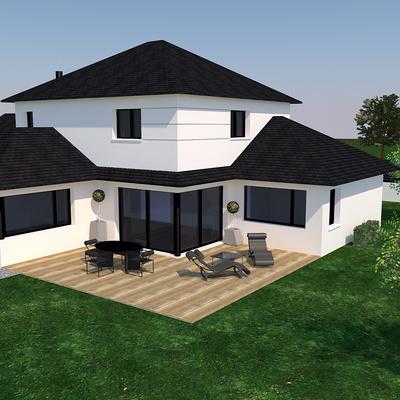 Avant projet d''une habitation de style traditionnel - Coetmieux