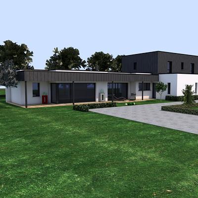Construction contemporaine - à Plédran 22960.