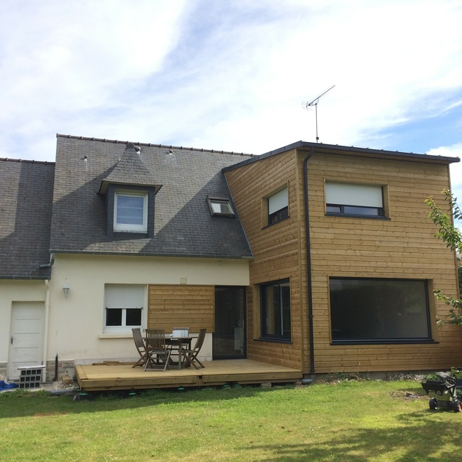 Extension bois et Rénovation d''une maison à Pléneuf Val André