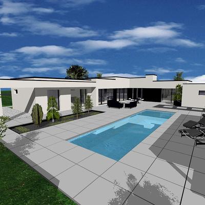 Projet construction maison avec piscine- Etables-sur-Mer