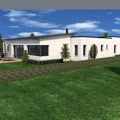 Projet de construction de maison plain pied- Plérin