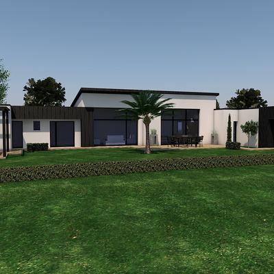 Projet maison contemporaine avec piscine - Erquy