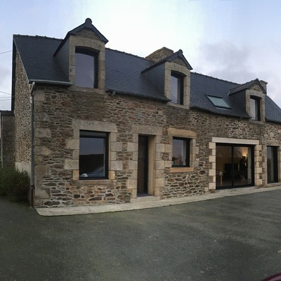 Réaménagement complète d''une Habitation à Plédéliac - Bretagne