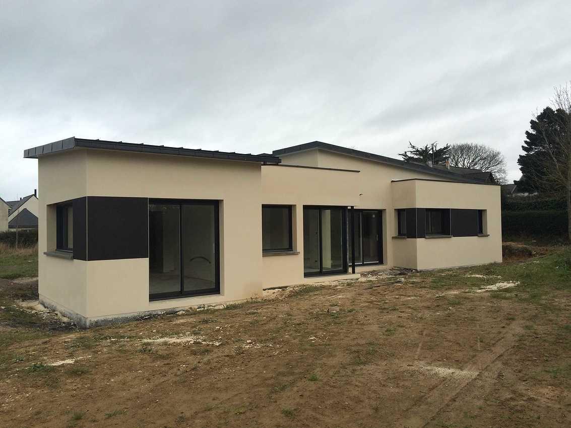 Maison contemporaine de plain pied de 114 m2 à Pléneuf-Val-André img4569
