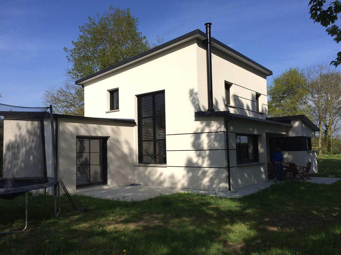 Construction d''une maison individuelle contemporaine à St Trimoël 0