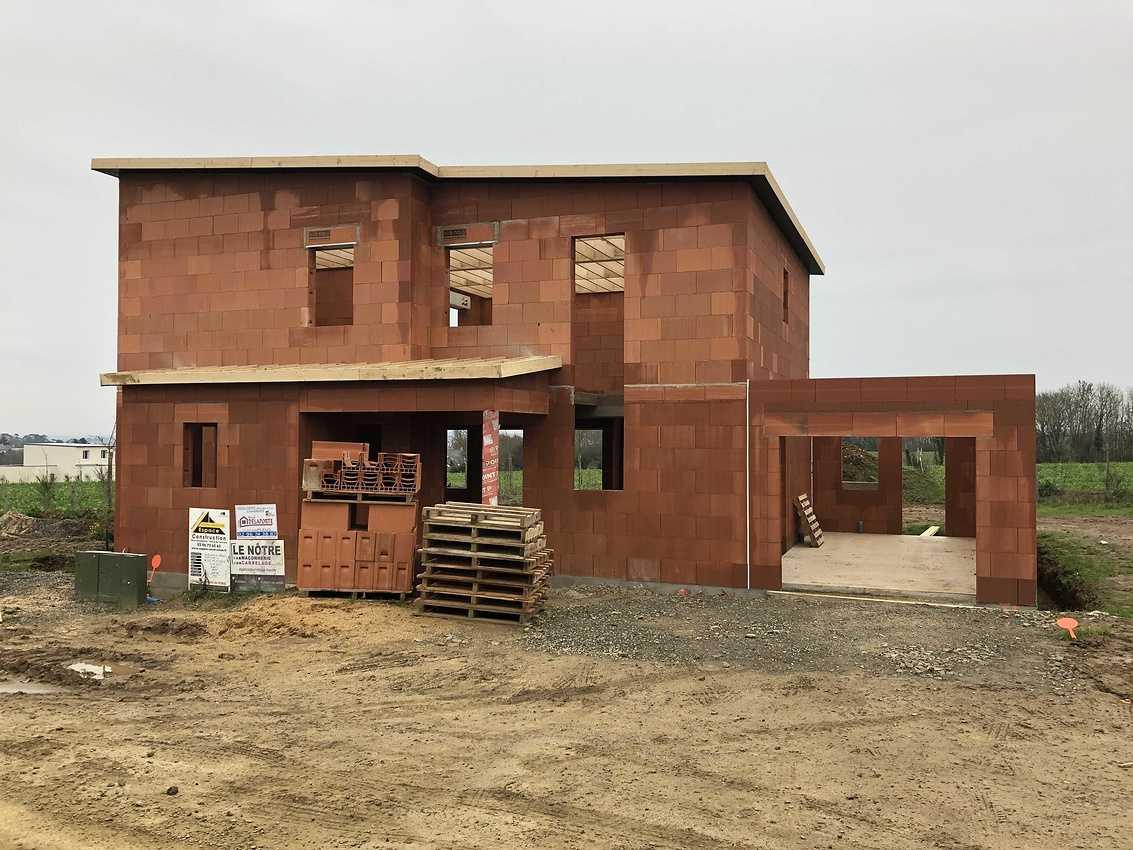 Construction d''une Habitation contemporaine à Plérin 22 190 Bretagne img0214