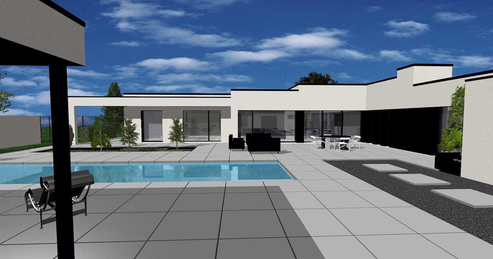 Projet construction maison avec piscine- Etables-sur-Mer neufetablesurmer2