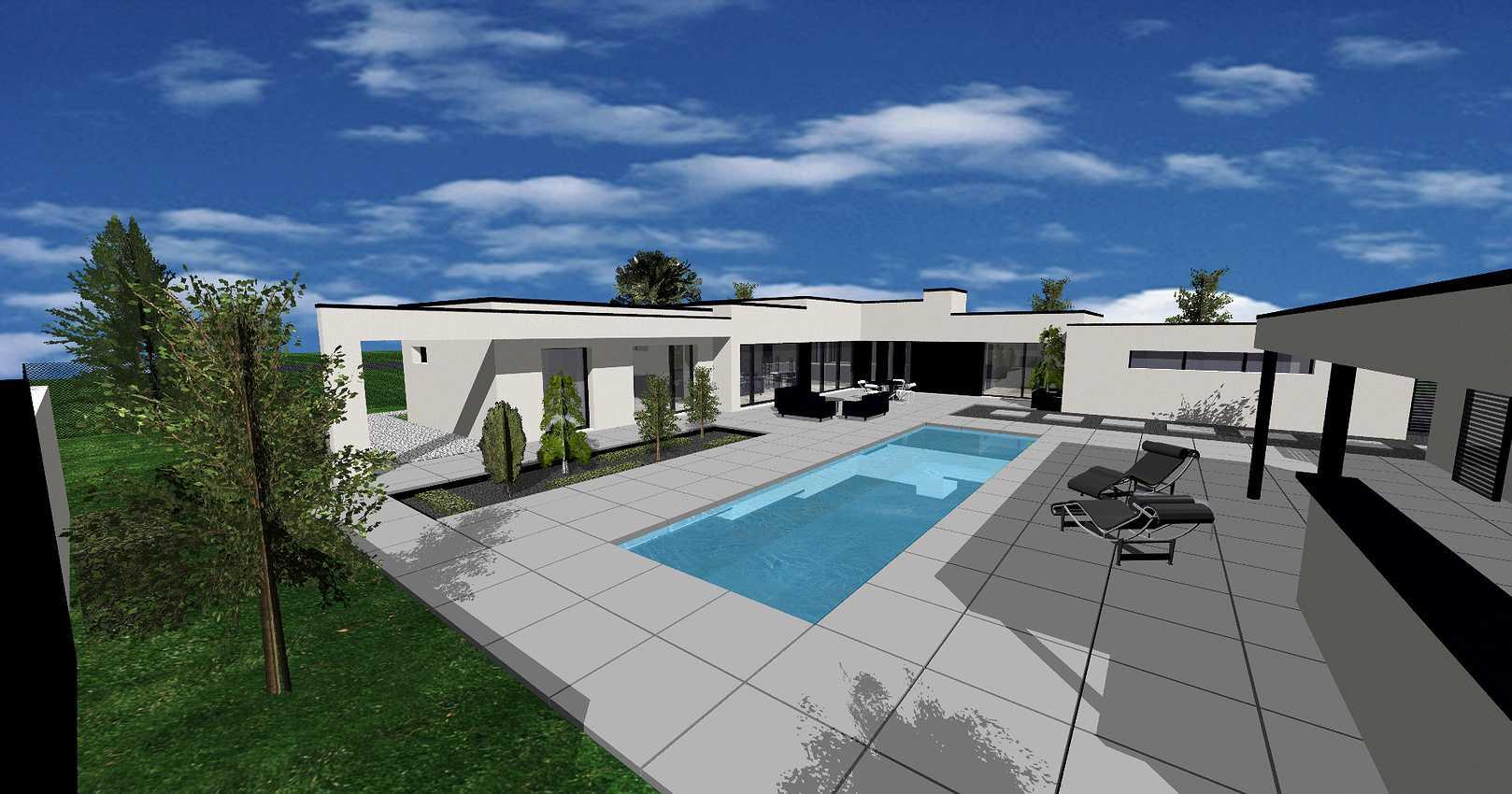 Projet construction maison avec piscine- Etables-sur-Mer 0