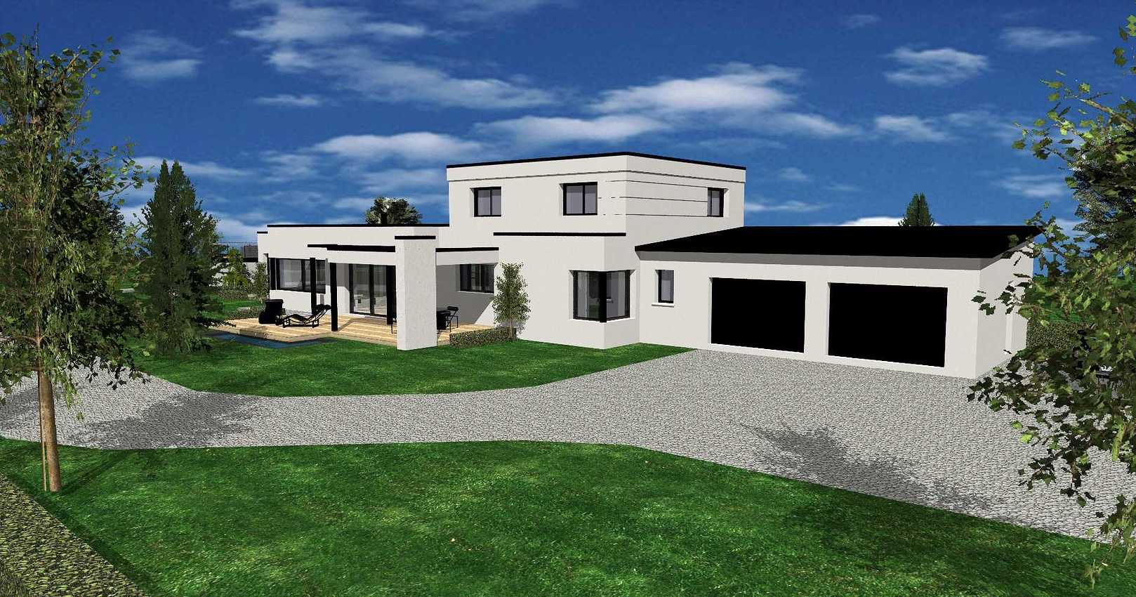 Projet de construction maison neuve toit plat - Pléneuf-Val-André prsentation34