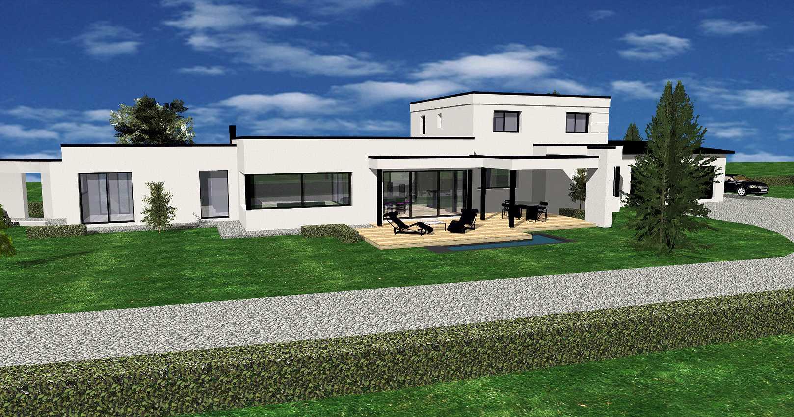 Projet de construction maison neuve toit plat - Pléneuf-Val-André 0