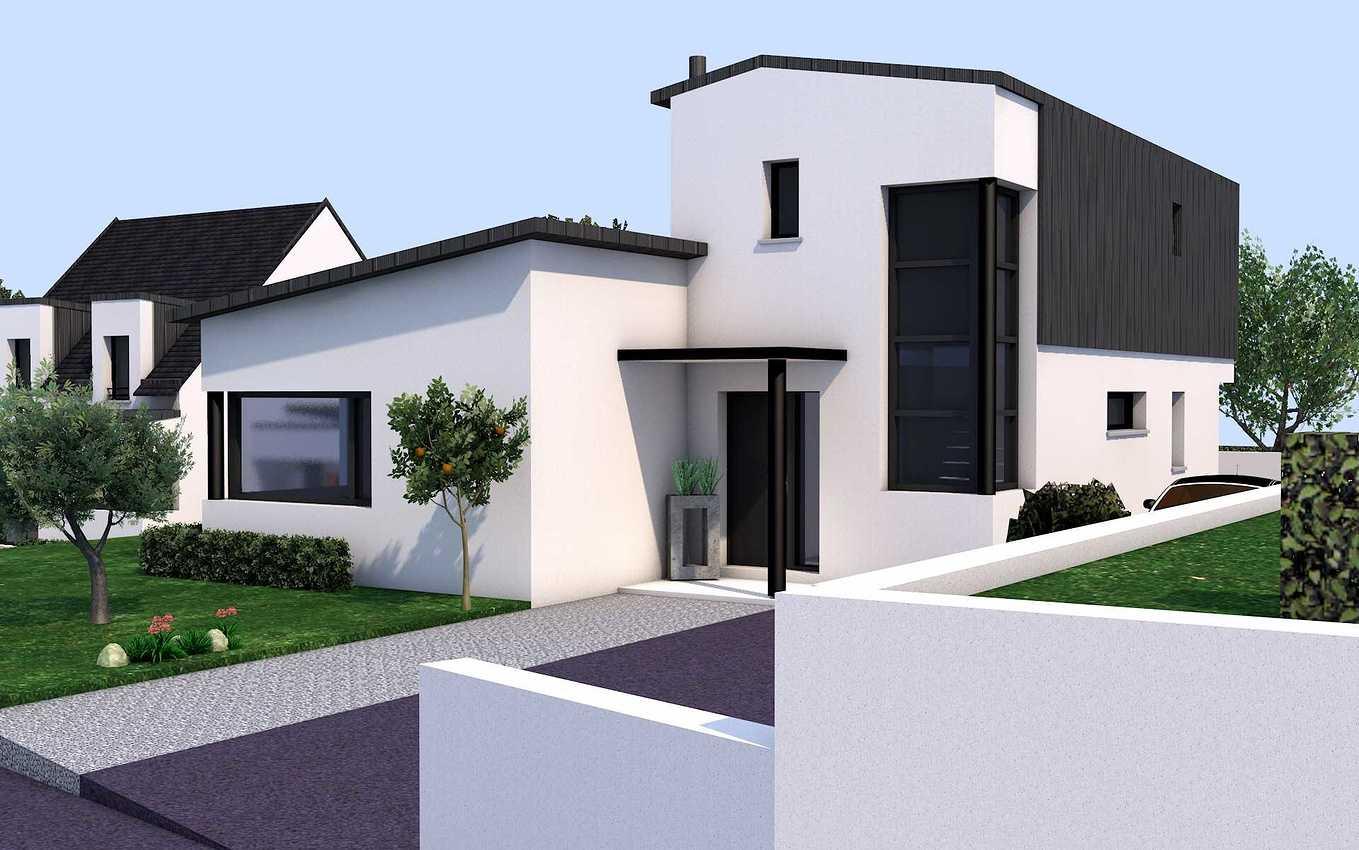 Avant-projet d''une maison contemporaine - Pléneuf-Val-André. presentation12