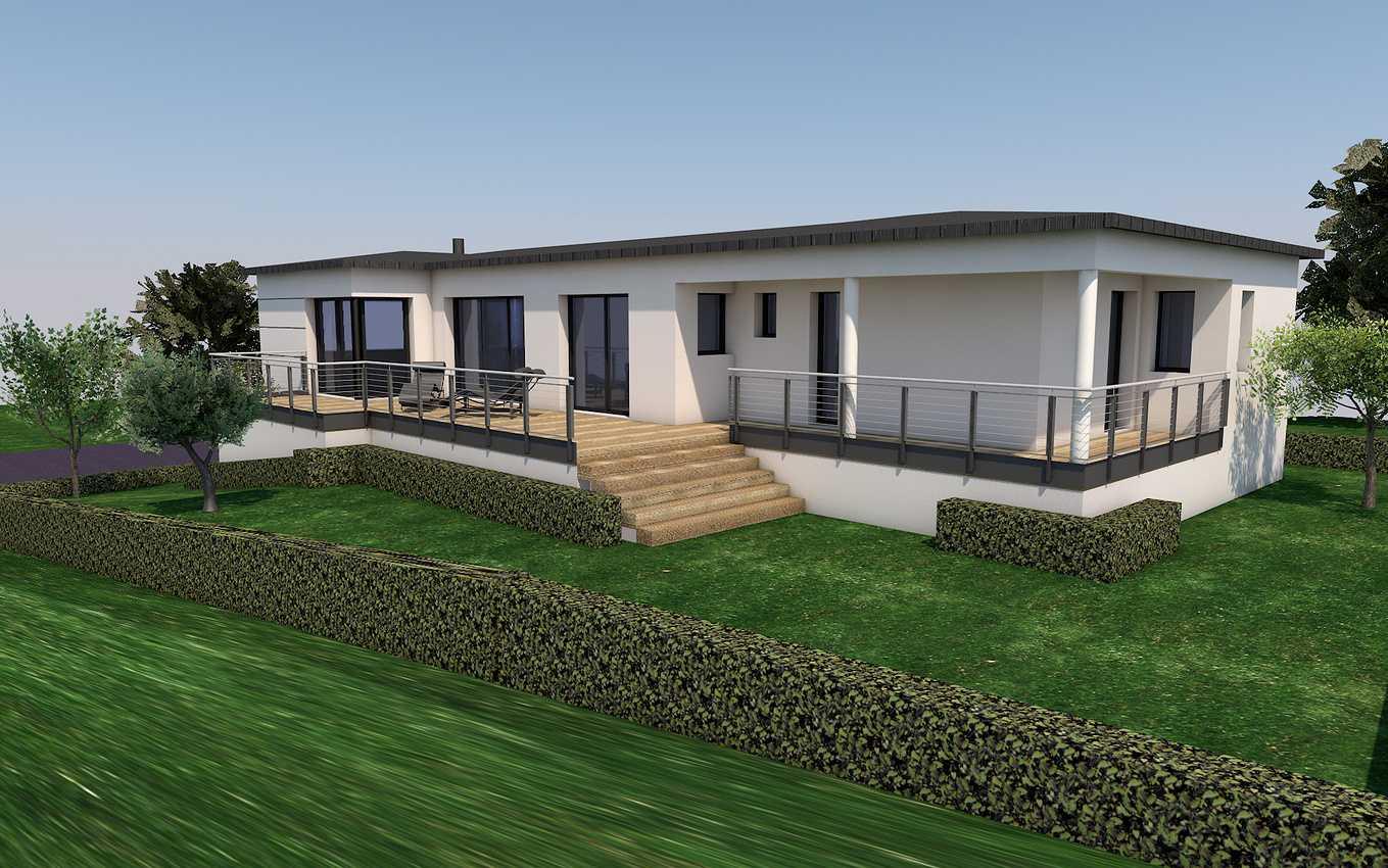 Avant -projet maison neuve toit plat - Pléneuf-Val-André 0