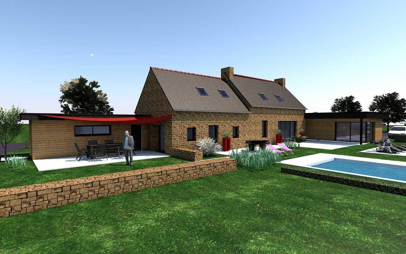 Projet de Rénovation et d''extension d''une maison au Vieux-Bourg. renovieuxbourg