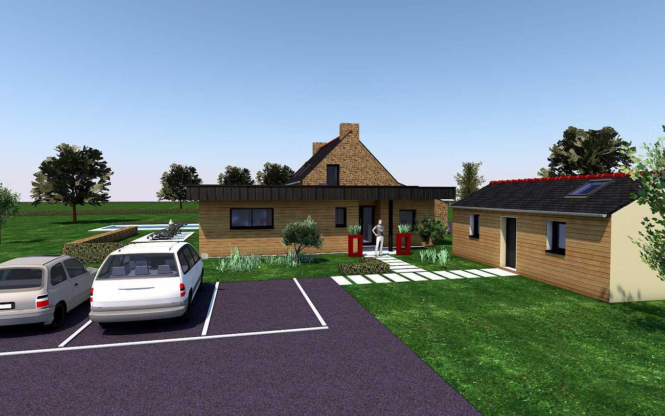 Projet de Rénovation et d''extension d''une maison au Vieux-Bourg. 0