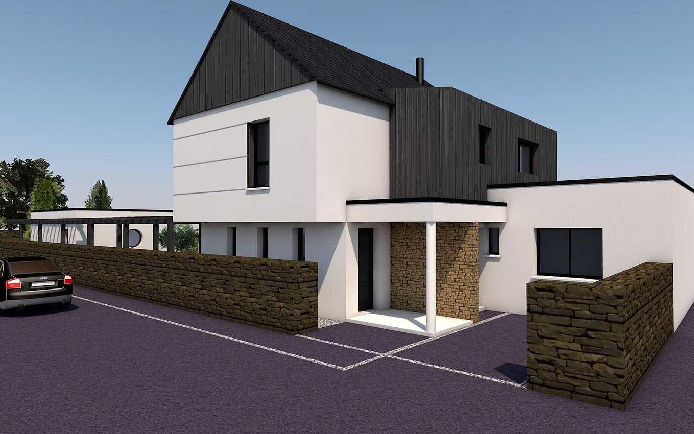 Projet de construction maison 2 niveaux - Pléneuf-Val-André presentation12