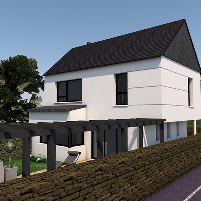 Projet de construction maison 2 niveaux - Pléneuf-Val-André
