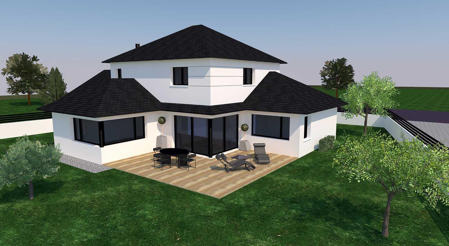 Avant projet d''une habitation de style traditionnel - Coetmieux 0