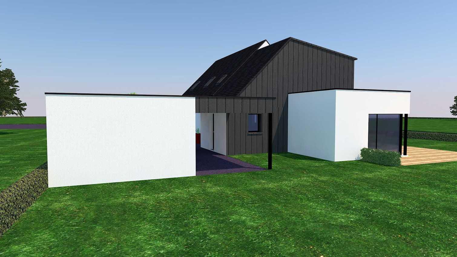 Projet d''extension et Rénovation sur la commune d''Andel aps2vuenordouest